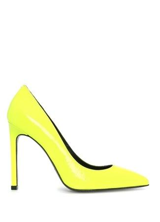 Neon Sarı Rugan Stiletto