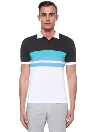 77d67c145adfa Colorblocked Şerit Detaylı Polo Yaka T-shirt