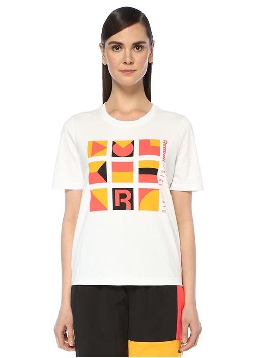 Gigi Beyaz Grafik Baskılı T-shirt