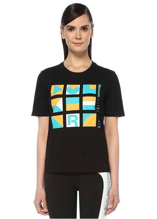 Gigi Siyah Grafik Baskılı T-shirt