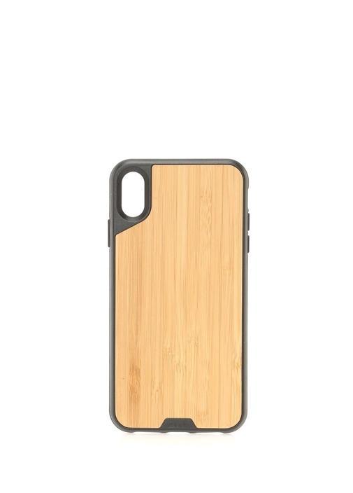 Bej iPhone Xs Max Bambu Telefon Kılıfı