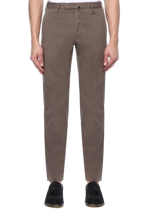 Slim Fit Kahverengi Normal Bel Pantolon