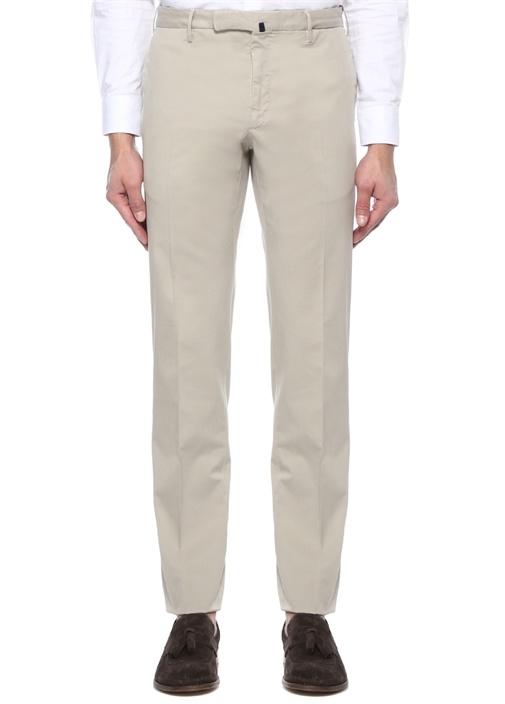 Slim Fit Bej Normal Bel Pantolon