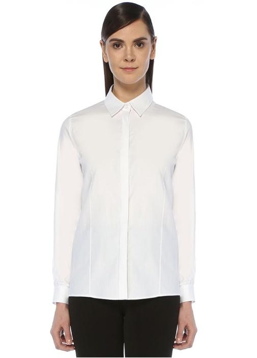 Beyaz İngiliz Yaka Oxford Gömlek