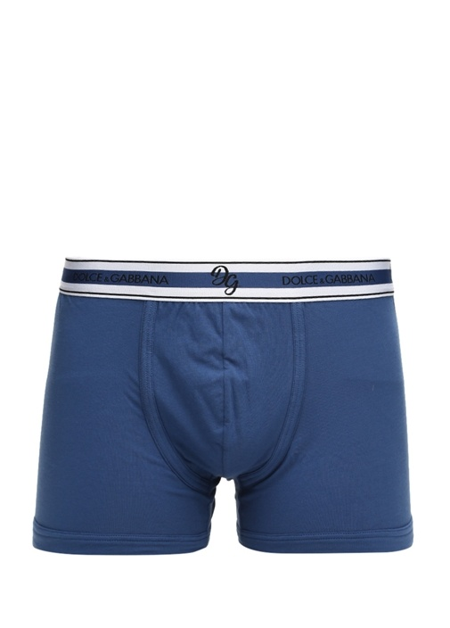 Mavi Logolu Erkek Boxer
