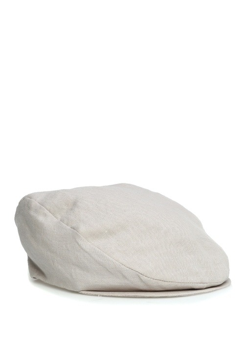 Gri Erkek Keten Şapka