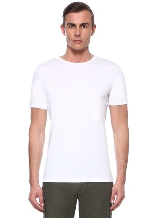 Edward Beyaz Basic T-shirt
