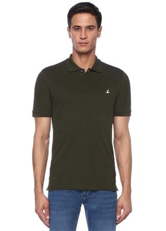 Beymen Club Erkek Comfort Fit Haki Polo Yaka Dokulu T-shirt S male
