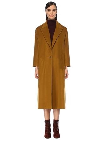 Beymen Club Kadın Hardal Tek Düğmeli Klasik Yün Palto Sarı 36