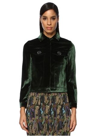Beymen Club Kadın Yeşil Taş Düğme Detaylı Kadife Ceket 38 female