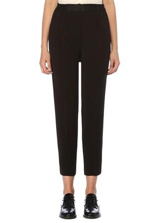 Siyah Beli Lastikli Pijama Pantolon