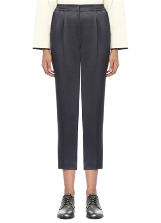 Beymen Club Kadın Petrol Pijama Formlu Biyeli Saten Pantolon Lacivert 38