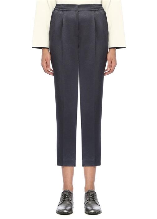 Petrol Pijama Formlu Biyeli Saten Pantolon