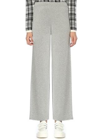 Beymen Club Kadın Gri Yanı Simli Şeritli Bol Paça Triko Pantolon XS