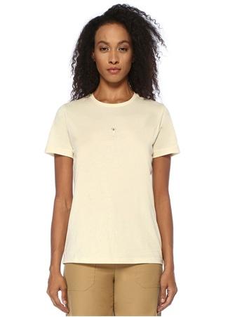 Ekru Köpek Nakışlı T-shirt