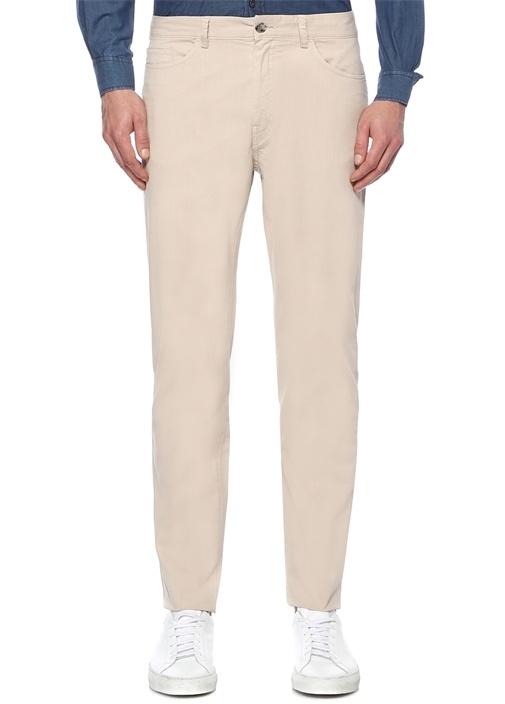 Slim Fit Bej Spor Pantolon