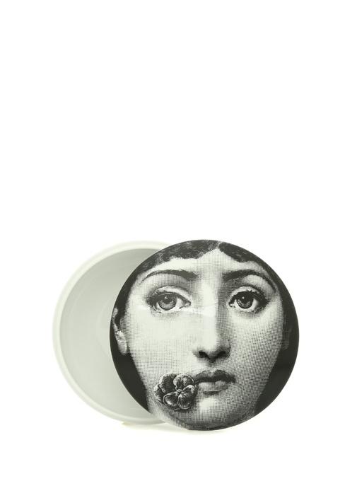 No 137 Yüz Baskılı Kapaklı Porselen Dekoratif Kase