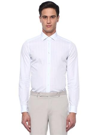 Mavi Beyaz Çizgili Gömlek