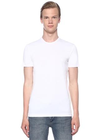 2li Bisiklet Yaka Saf Pamuklu Basic T-shirt Seti