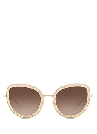 Dolce&Gabbana Kadın Cuore Sacro Gold Cat Eye Güneş Gözlüğü 54 EU