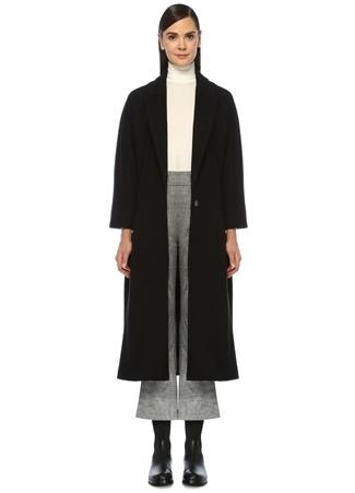 Beymen Club Kadın Siyah Tek Düğmeli Uzun Yün Palto 38