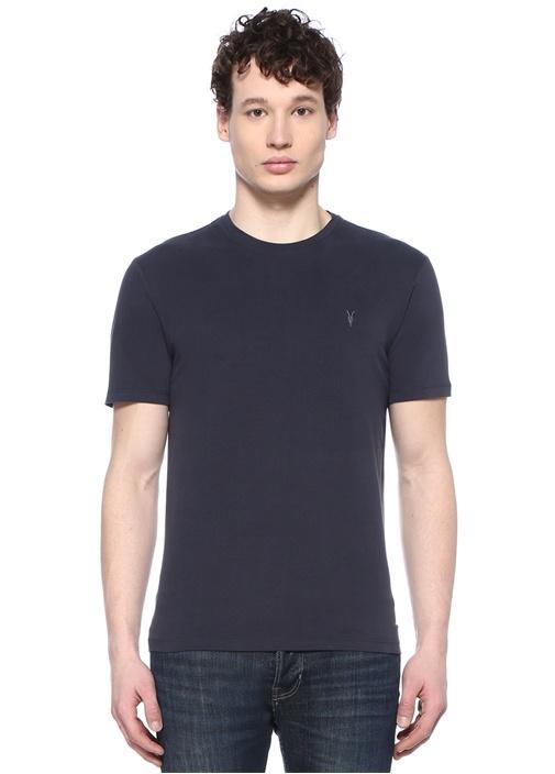 Brace Lacivert Bisiklet Yaka Logo Nakışlı T-shirt