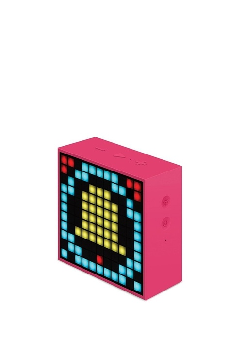 Mini Pembe Pixel Art Smart Bluetooth Hoparlör