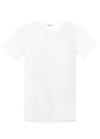 Zimmerli Erkek Beyaz Bisiklet Yaka Basic T-shirt L EU male
