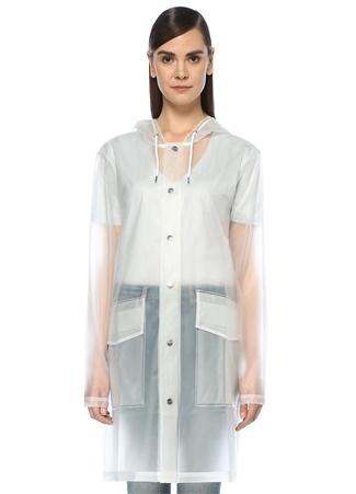 Rains Kadın Kapüşonlu Yağmurluk Beyaz XS/S EU