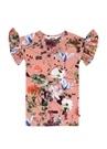 Coralie Pembe Çiçek Baskılı Kız Çocuk Elbise