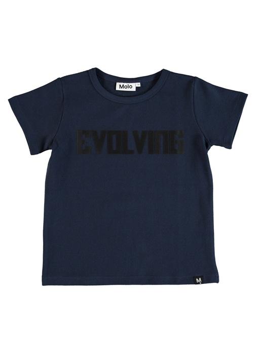 Raddix Lacivert Baskılı Dokulu Erkek Çocuk T-shirt