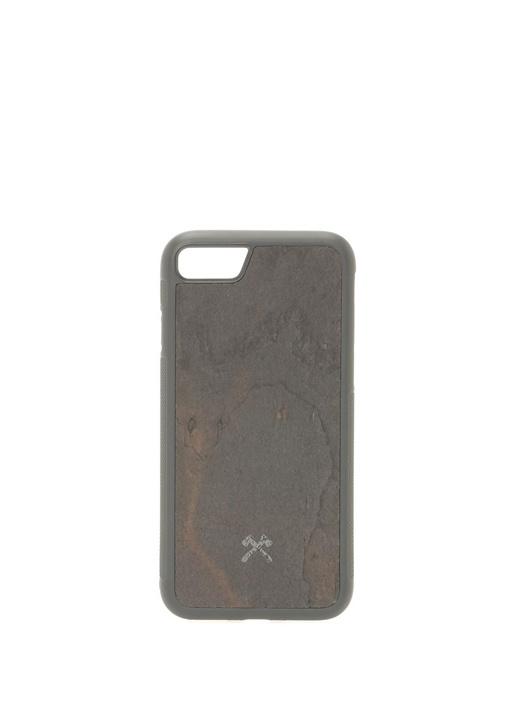 Siyah Taş Dokulu iPhone 7 8 Telefon Kılıfı