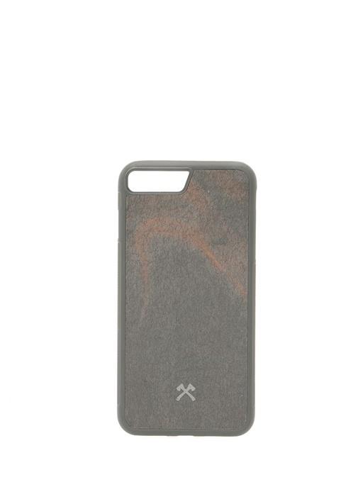 Siyah Taş Dokulu iPhone 7 8 Plus Telefon Kılıfı