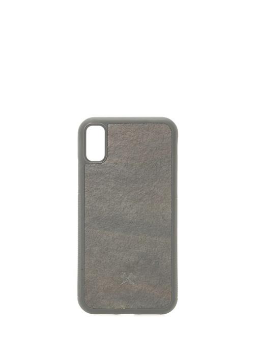 Siyah Taş Dokulu iPhone X Xs Telefon Kılıfı