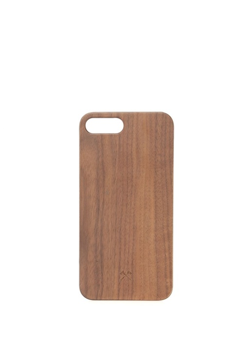 Kahverengi Ahşap iPhone 7 8 Telefon Kılıfı