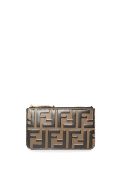 Fendı Kahverengi Kabartmalı Logolu Kadın Dericüzdan – 2149.0 TL