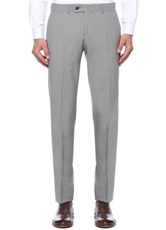 Gri Normal Bel Yün Klasik Pantolon