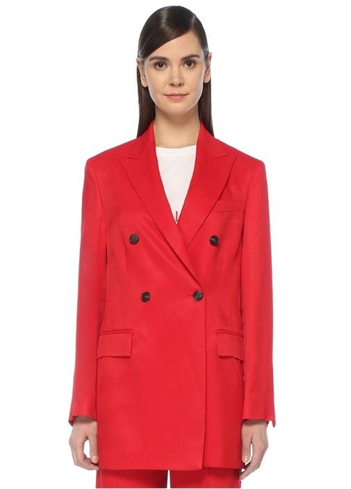 Valeri Kırmızı Kırlangıç Yaka Kruvaze Blazer Ceket