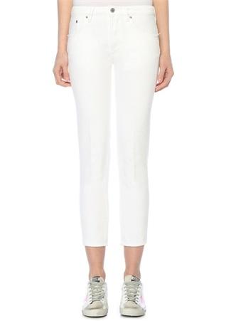 Jolly Beyaz Normal Bel Cigarette Jean Pantolon