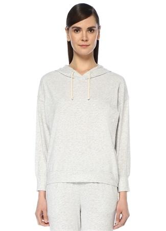 American Vintage Kadın Bysapick Gri Melanj Kapüşonlu Sweatshirt L EU