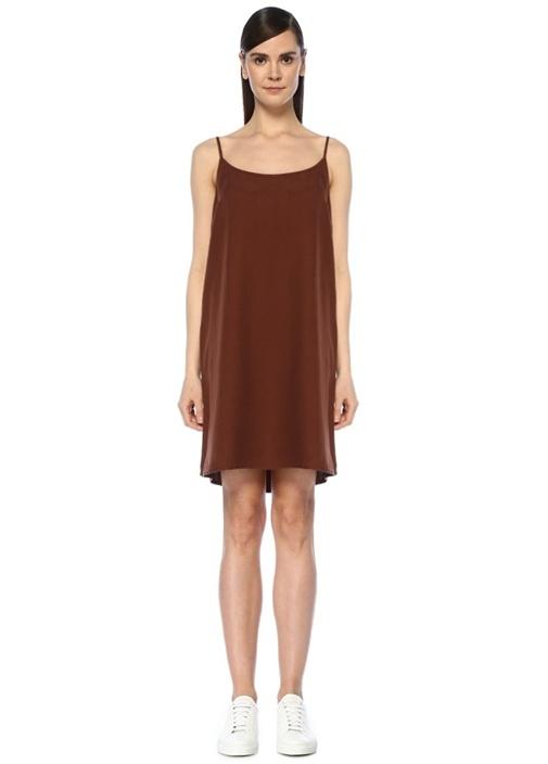 Nalastate Kiremit Askılı Mini Bol Elbise