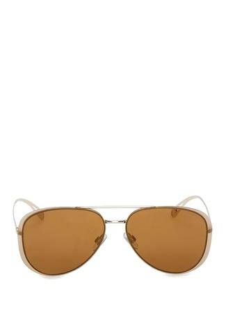 Kadın Sarı Köprülü Güneş Gözlüğü Altın Rengi 60 EU