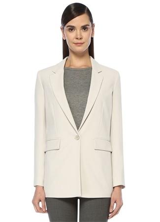 Beymen Club Kadın Gri Kelebek Yaka Tek Düğmeli Krep Blazer Ceket 40 EU