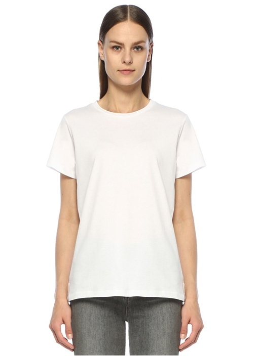 Beymen Beyaz Bisiklet Yaka Dökümlü Basic T-shirt – 99.0 TL