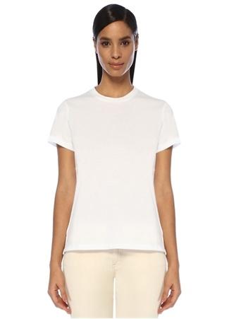 Beymen Kadın Beyaz Bisiklet Yaka Dökümlü Basic T-shirt L EU