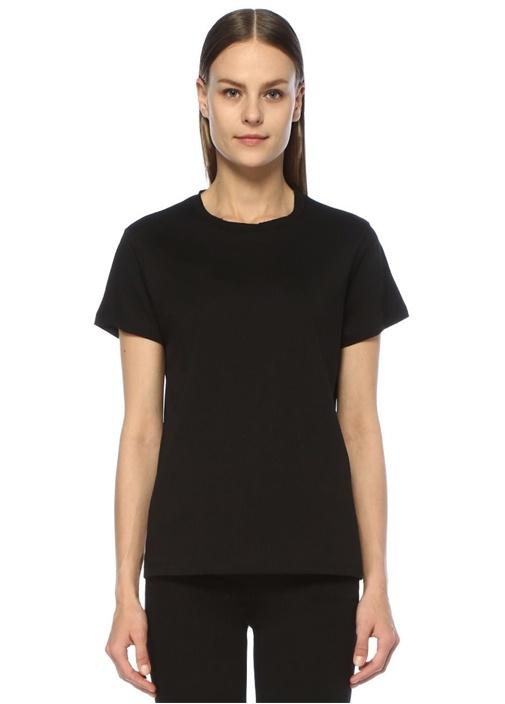 Beymen Siyah Bisiklet Yaka Dökümlü Basic T-shirt – 99.0 TL