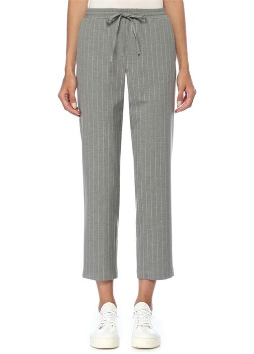Gri Beyaz Çizgili Chino Pantolon