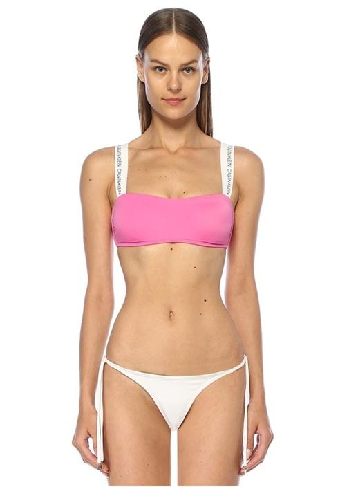 Calvın Kleın Pembe Beyaz Logo Bantlı Bikini Üstü – 319.0 TL