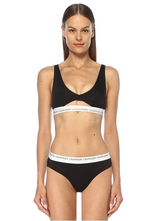 Calvın Kleın Siyah Beyaz Logolu Dekolteli Bikini Üstü – 279.0 TL