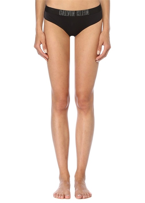 Intense Power Siyah Logo Bantlı Bikini Altı
